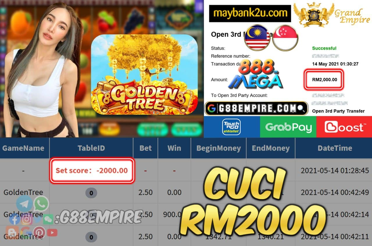 MEGA888 - GOLDENTREE CUCI RM2000 !!!