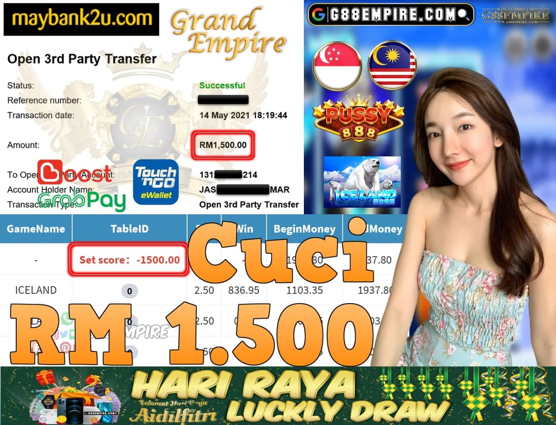 PUSSY888-ICELAND CUCI RM1,500!!!