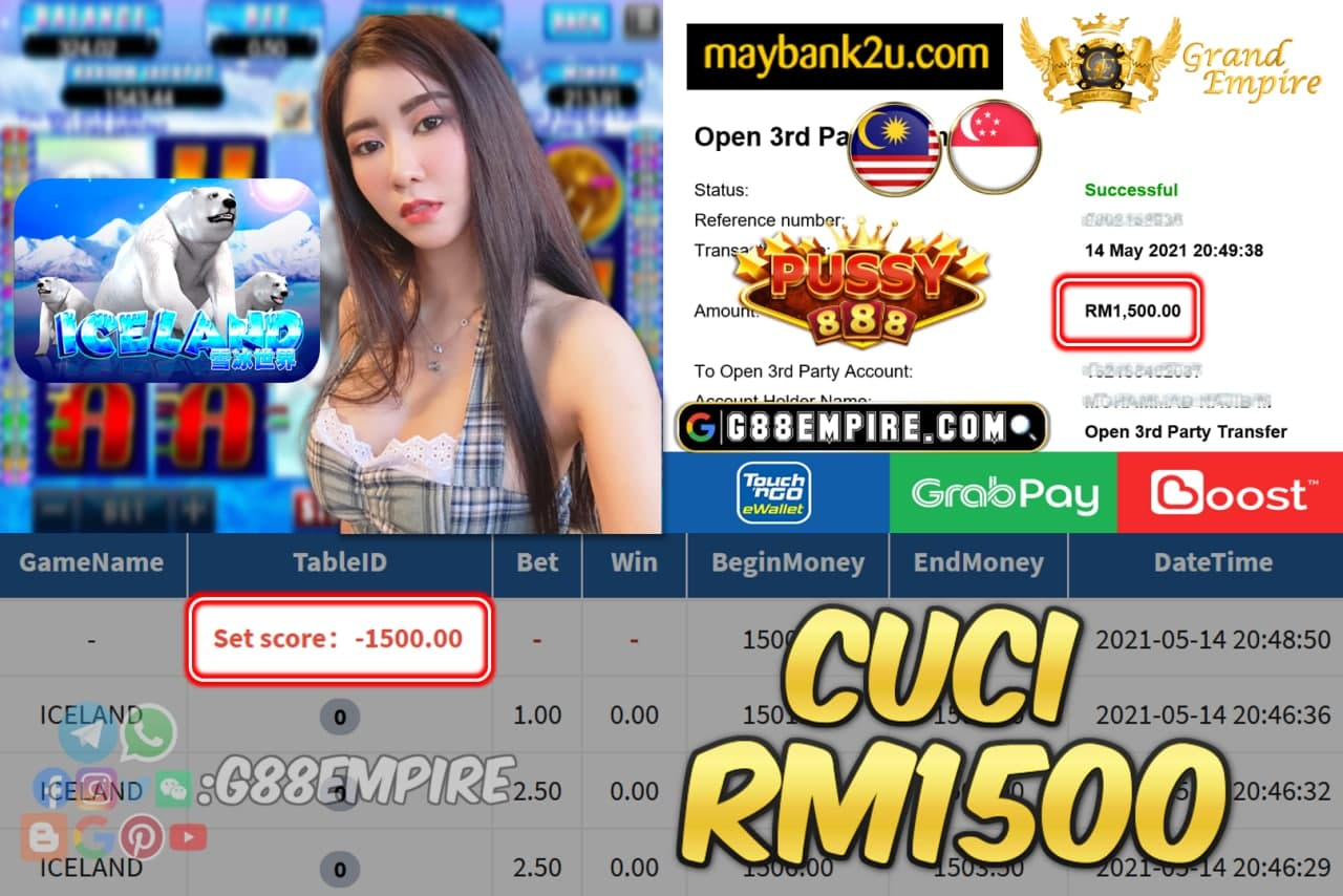 PUSSY888 - ICELAND CUCI RM1500 !!!