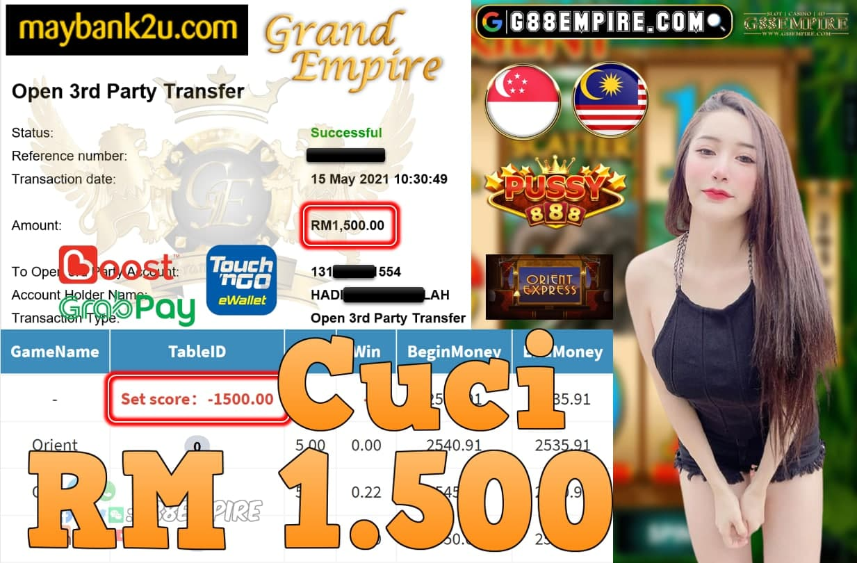 PUSSY888-ORIENT CUCI RM1,500!!!