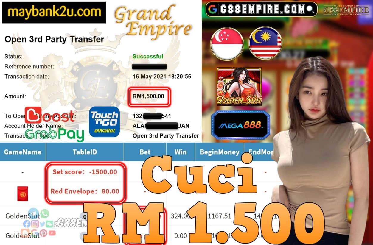 MEGA888-GOLDENSLUT CUCI RM1,500!!!
