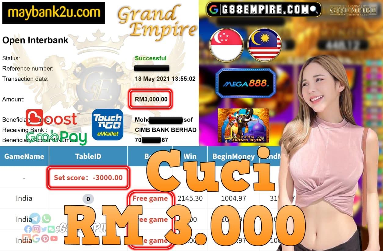 MEGA888-INDIA CUCI RM3,000!!!