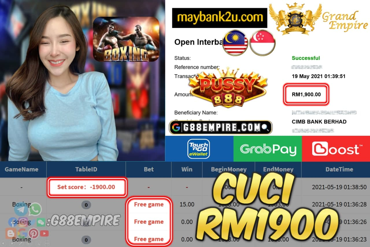 PUSSY888 - BOXING CUCI RM1900 !!!