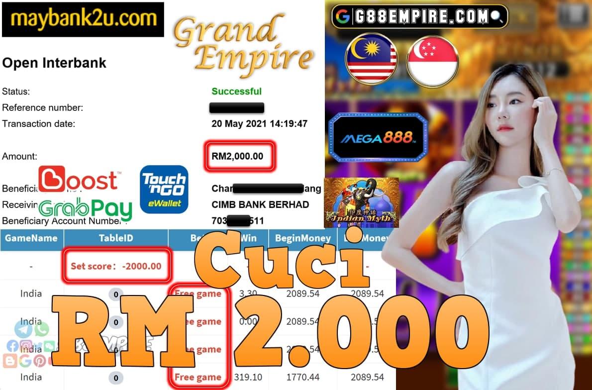 MEGA888-INDIA CUCI RM2,000!!!