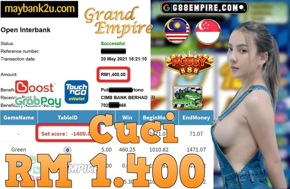 PUSSY888-GREENLIGHT CUCI RM1,400!!!!