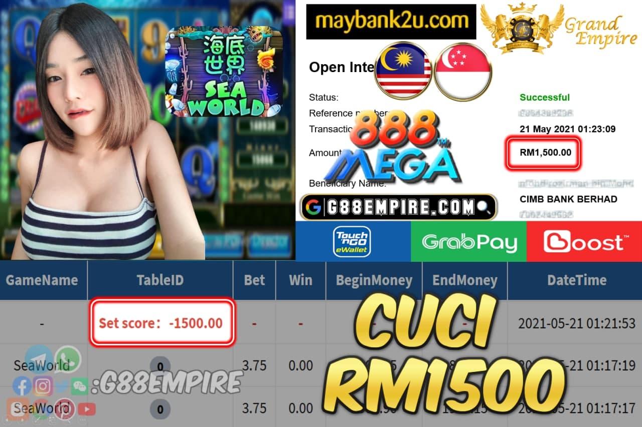 MEGA888 - SEAWORLD CUCI RM1500 !!!
