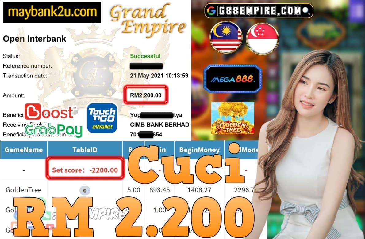 MEGA888-GOLDENTREE CUCI RM2,200!!!