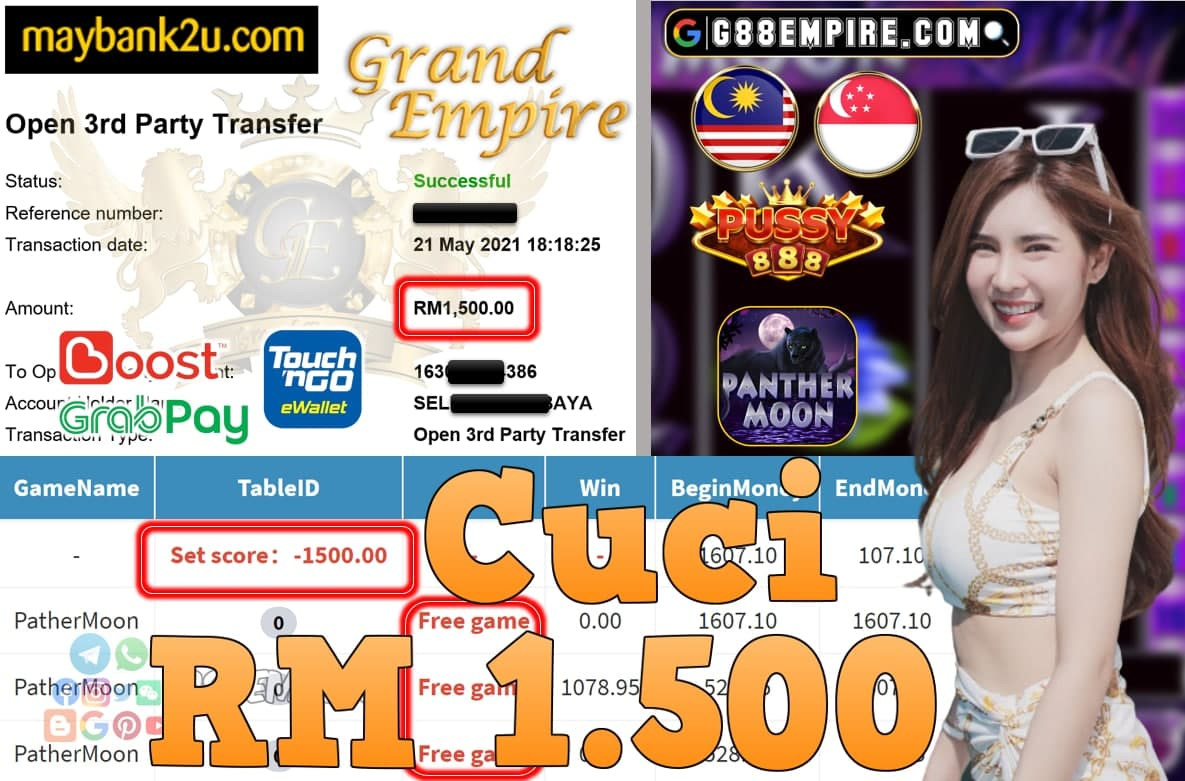PUSSY888-PANTHERMOON CUCI RM1,500!!!