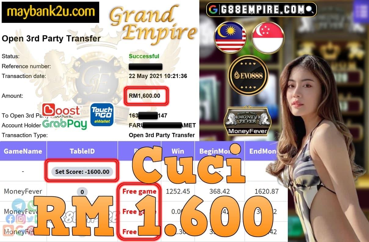 EVO888-MONEYFEVER CUCI RM1,600!!!