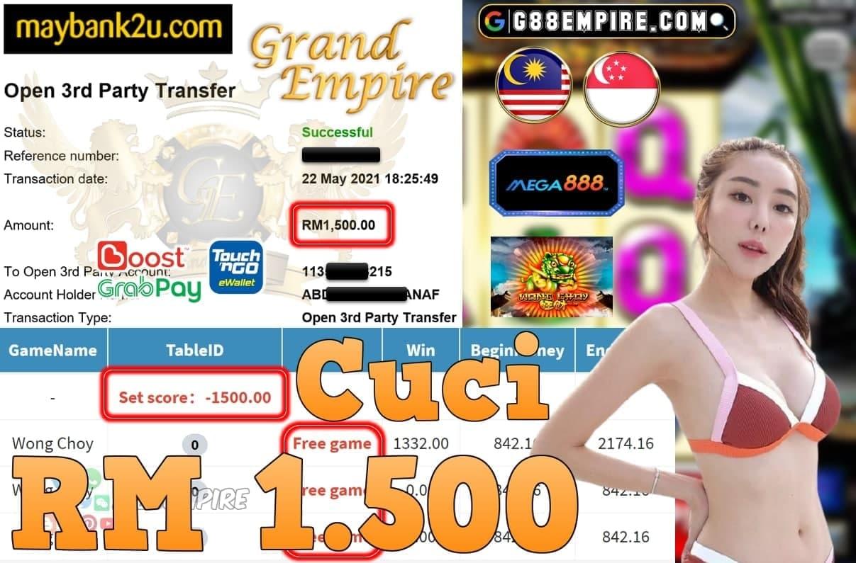 MEGA888-WONG CHOY CUCI RM1.500!!!