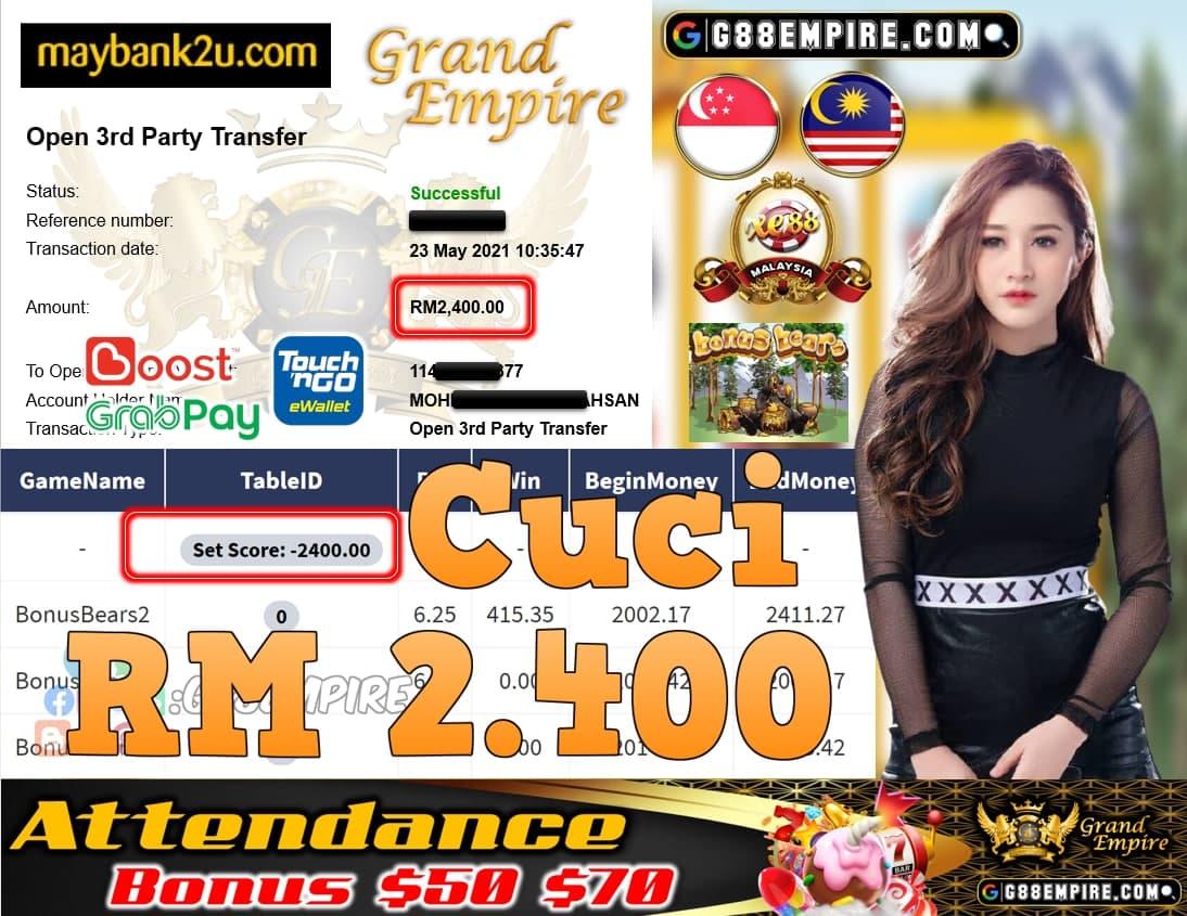 XE88-BONUSBEARS CUCI RM2,400!!!