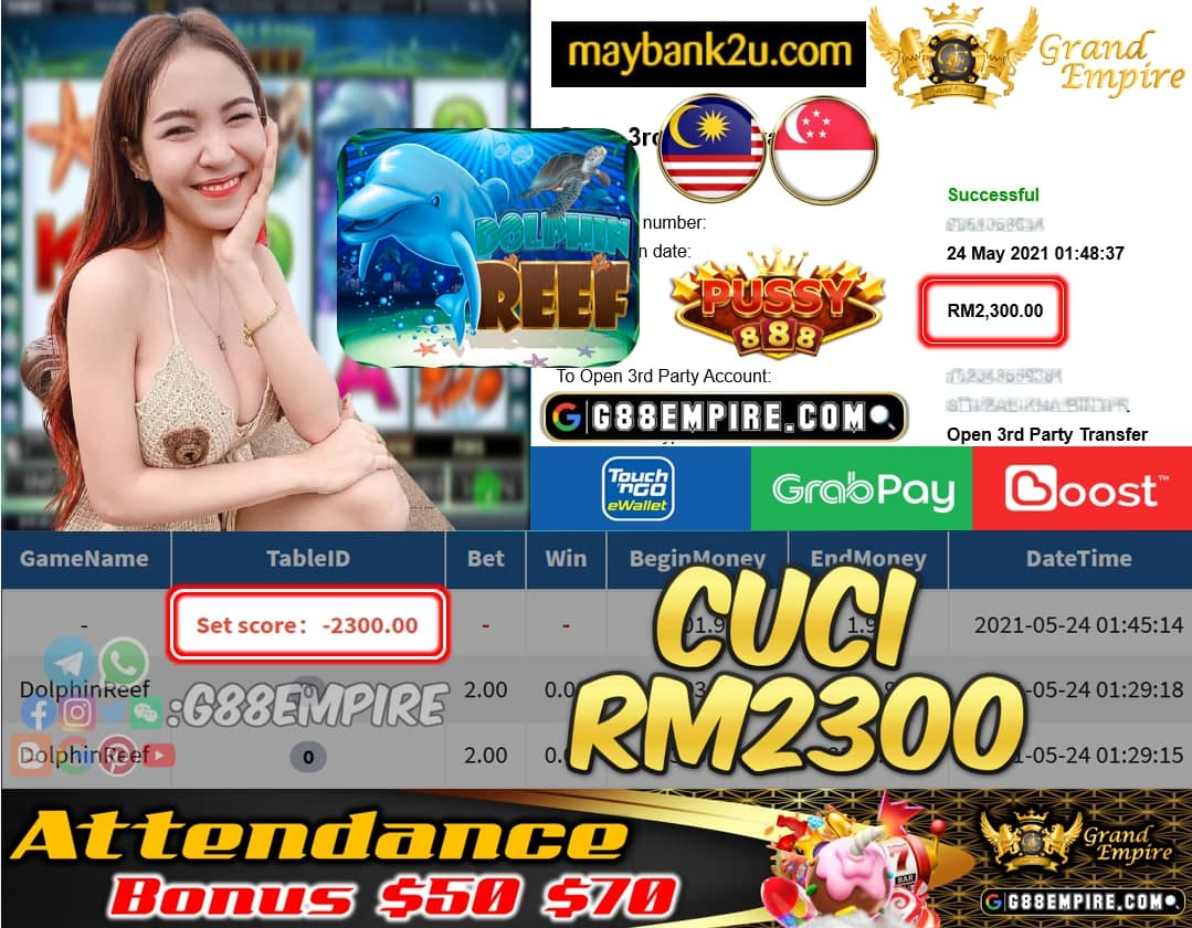 PUSSY888 - DOLPHINREEF CUCI RM2300 !!!