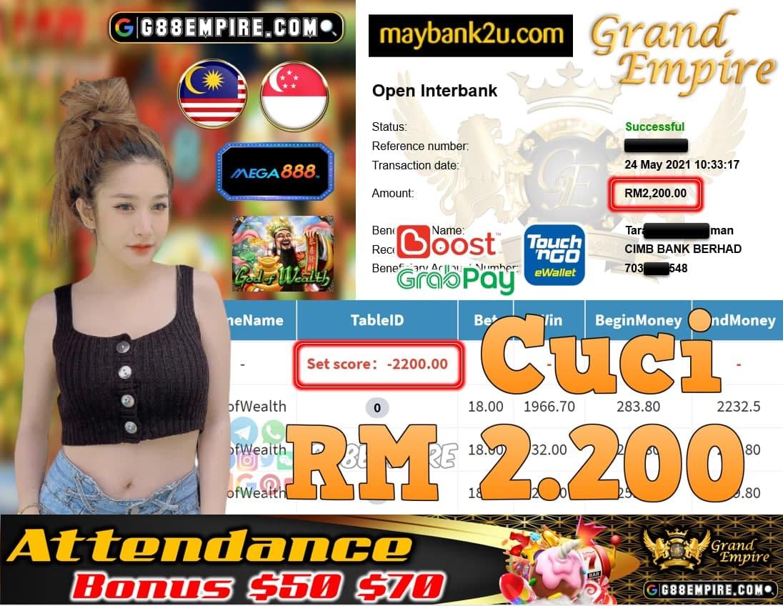 MEGA888-GODOFWEALTH CUCI RM2,200!!!