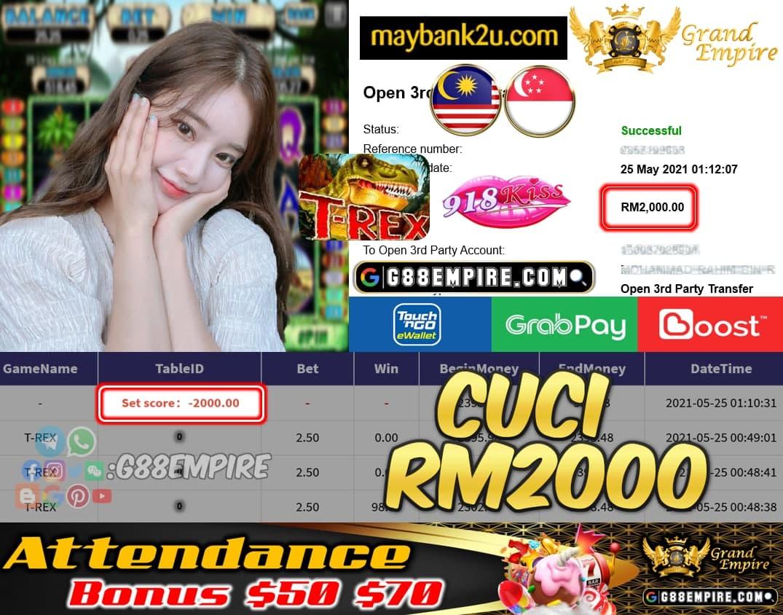 918KISS - T-REX CUCI RM2000 !!!