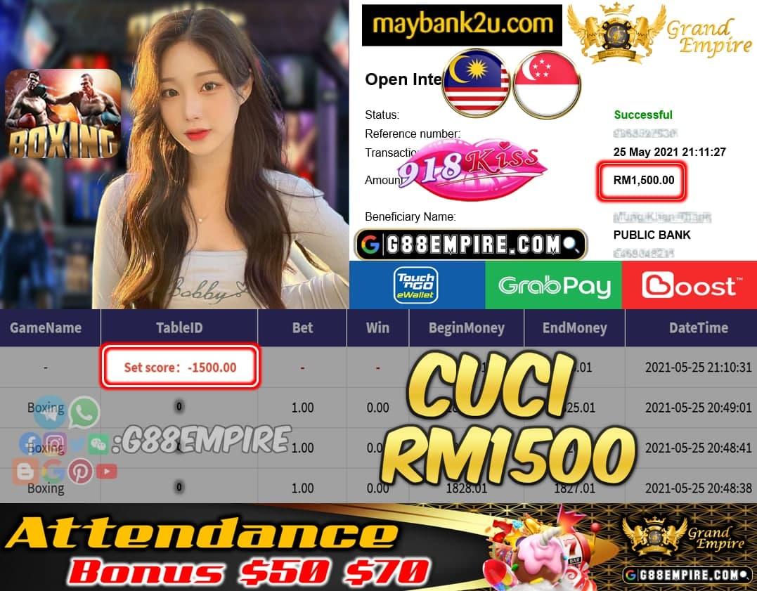 918KISS - BOXING CUCI RM1500 !!!