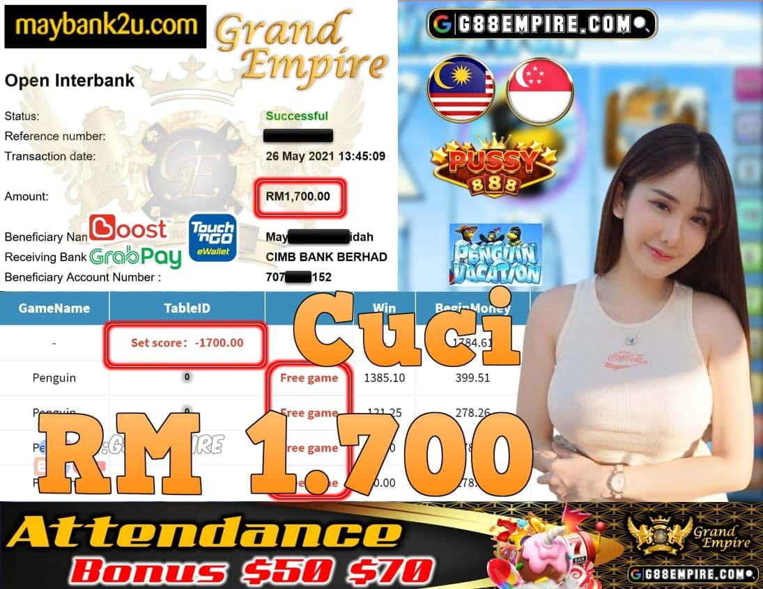 PUSSY888-PENGUINVACATION CUCI RM1,700!!!
