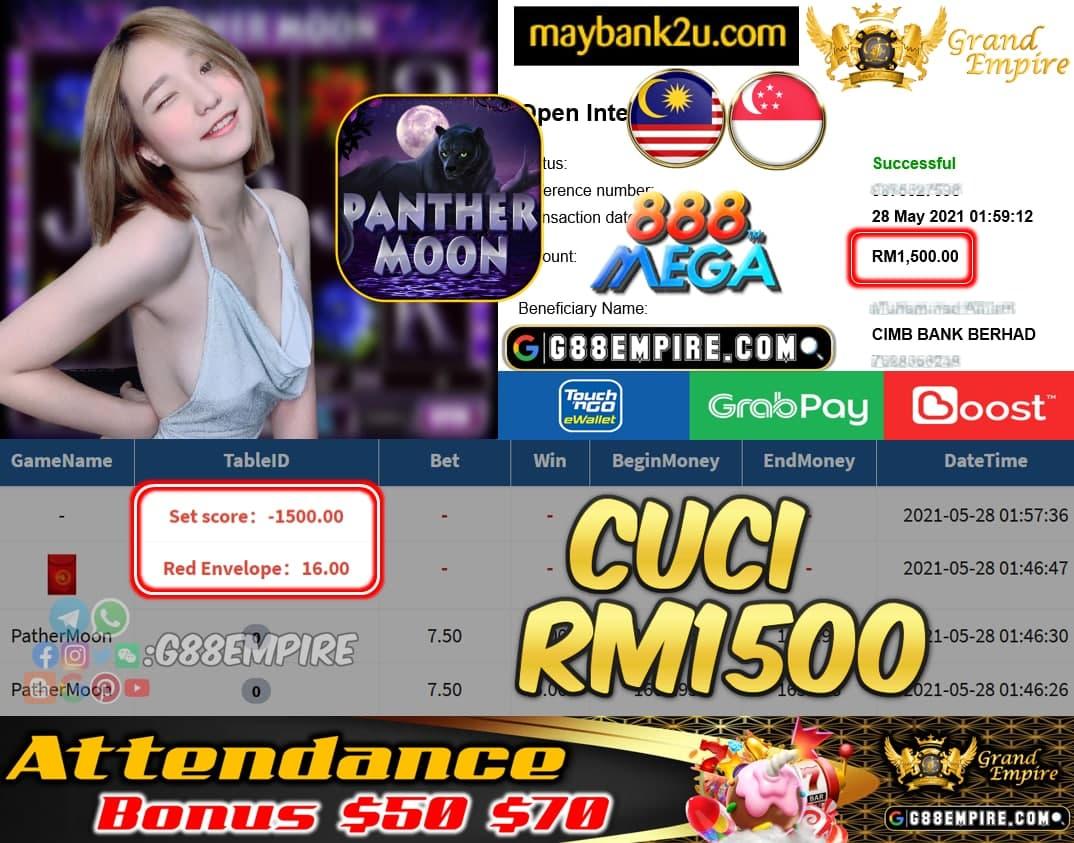 MEGA888 - PATHERMOON CUCI RM1500 !!!