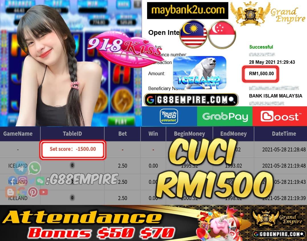 918KISS - ICELAND CUCI RM1500 !!!