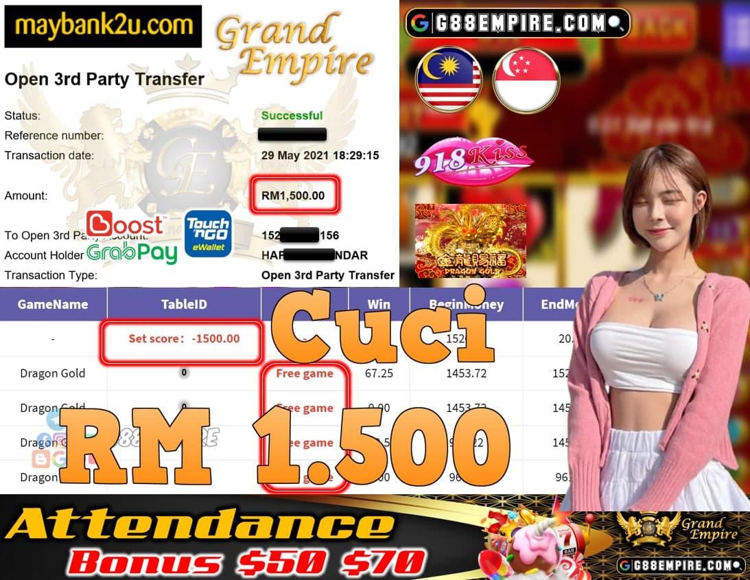 918KISS ORI - DRAGONGOLD CUCI RM1,500!!!