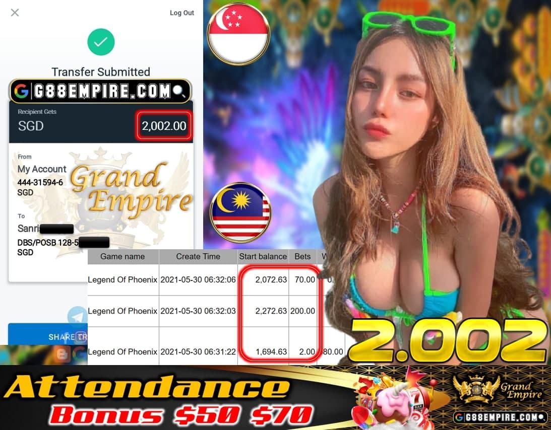 GREATWALL2 - LEGENDOFPHONENIX CASH OUT $2.002!!!