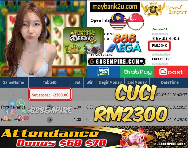 MEGA888 - FORTUNEPANDA CUCI RM2300 !!!