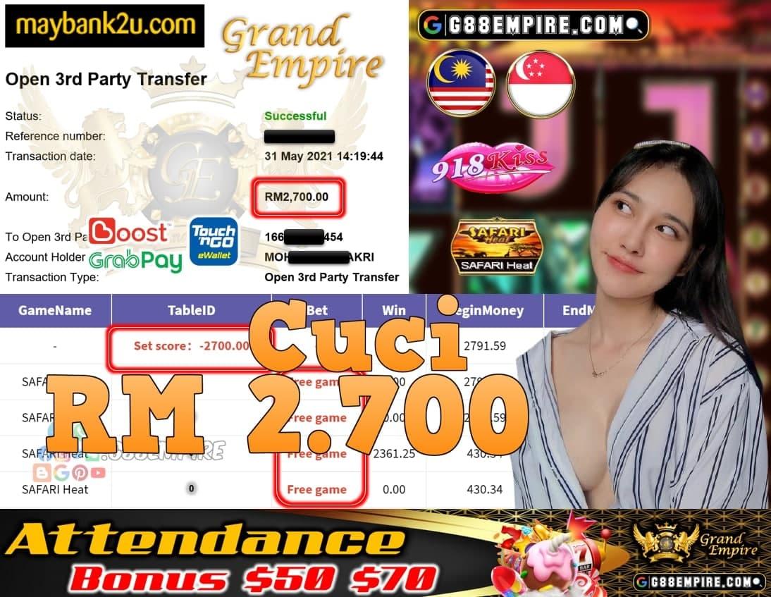 918KISS ORI - SAFARI HEAT CUCI RM2,700!!!