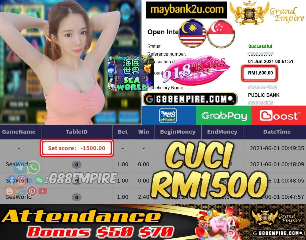 KISSORI - SEAWORLD CUCI RM1500 !!!