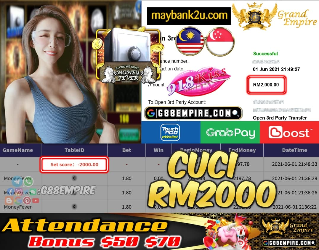 918KISSORI - MONEYFEVER CCUI RM2000 !!!