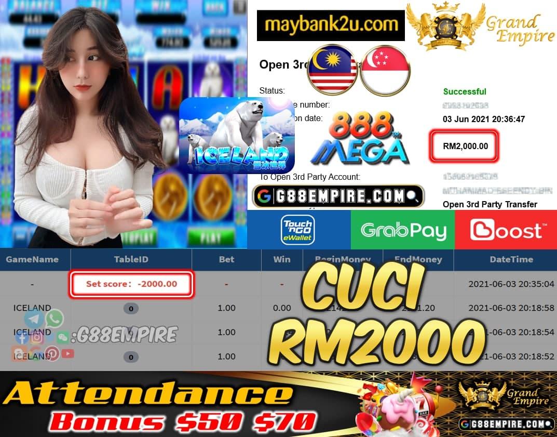 MEGA888 - ICALAND CUCI RM2000 !!!