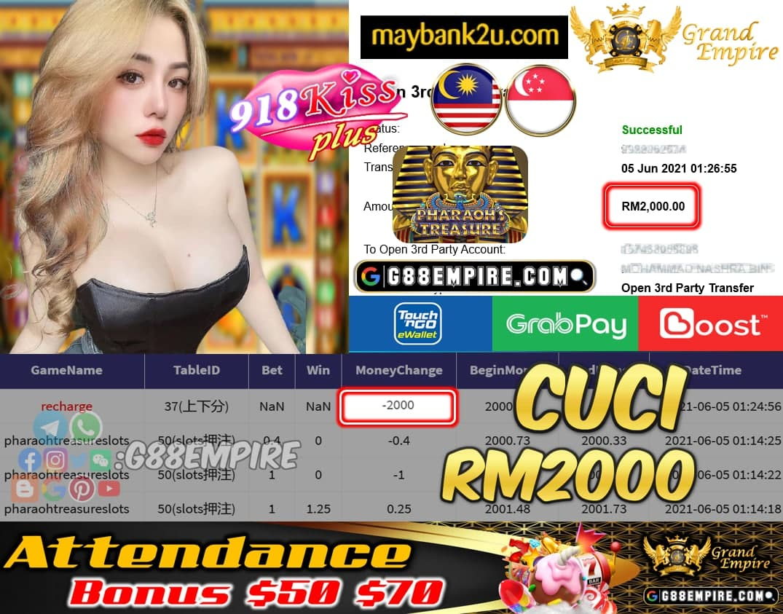 918KISS PLUS - PHARAOHTREASURE CUCI RM2000 !!!