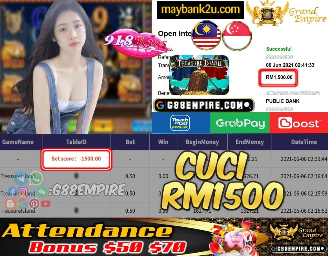 918KISSORI - TREASURELSLAND CUCI RM1500 !!!