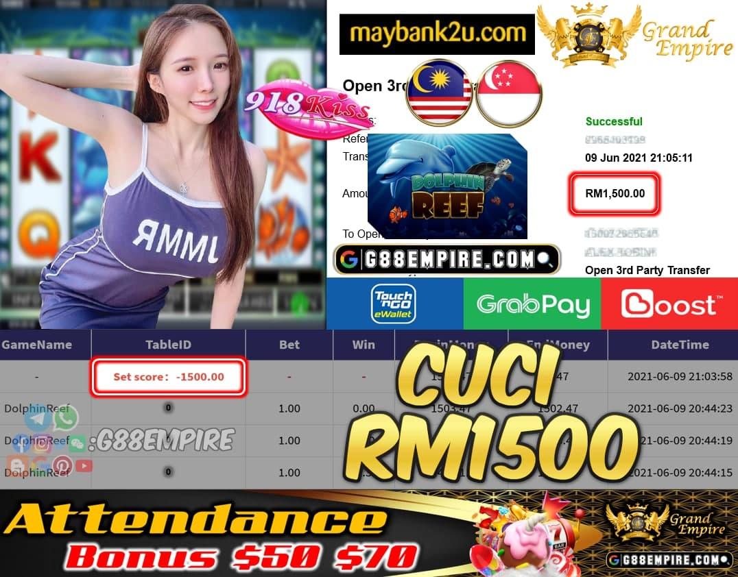 918KISSORI - DOLHPINREEF CUCI RM1500 !!!