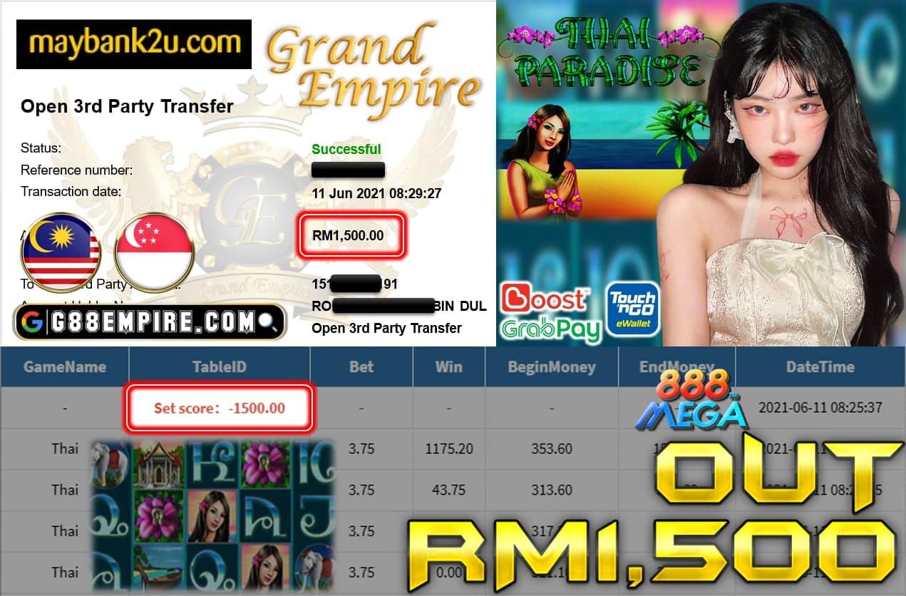 MEGA888 - THAI CUCI RM1500 !!!