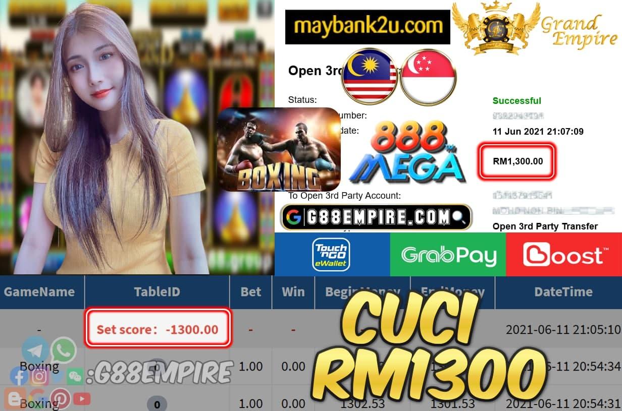 MEGA888 - BOXING CUCI RM1300 !!!