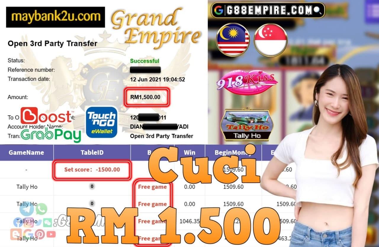 918KISS ORI - TALLY HO CUCI RM1,500!!!