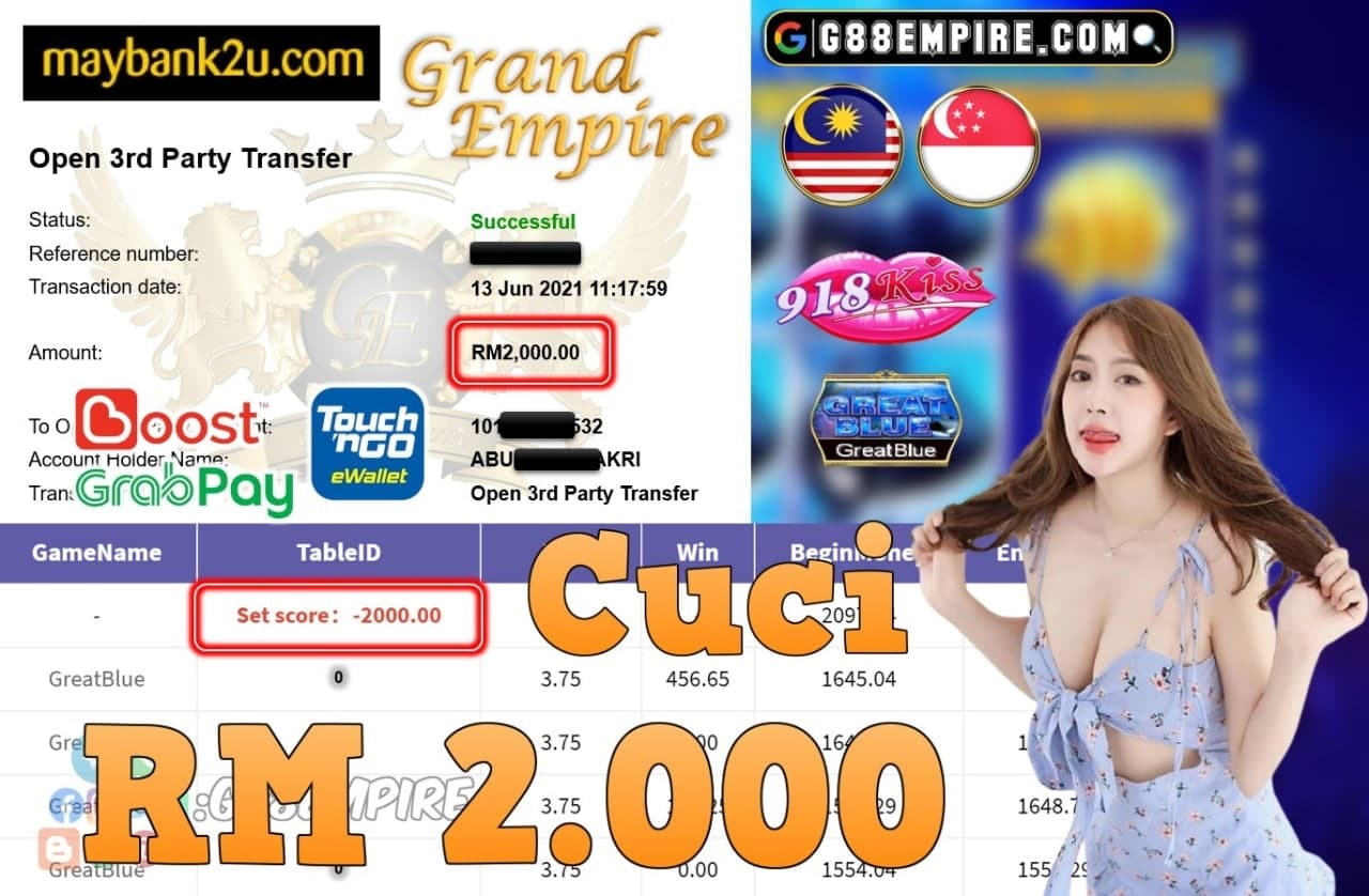 918KISS ORI - GREATBLUE CUCI RM2,000!!!