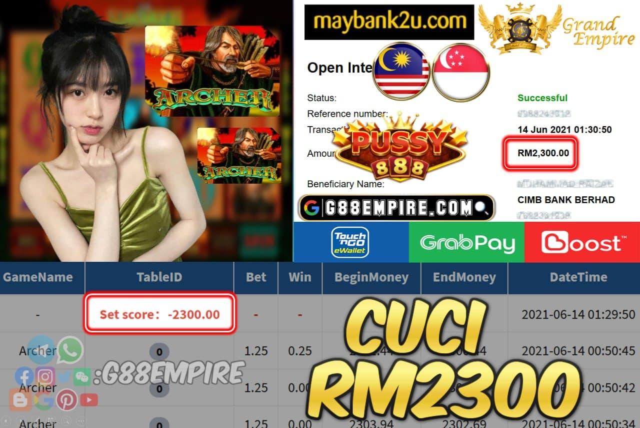 PUSSY888 - ARCHER CUCI RM2300 !!!