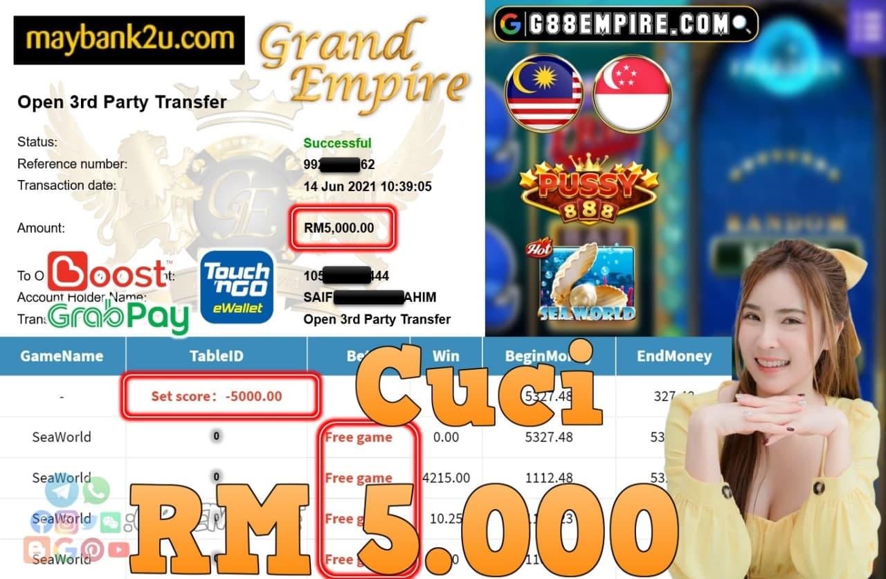 PUSSY888 - SEAWORLD CUCI RM5.000!!!
