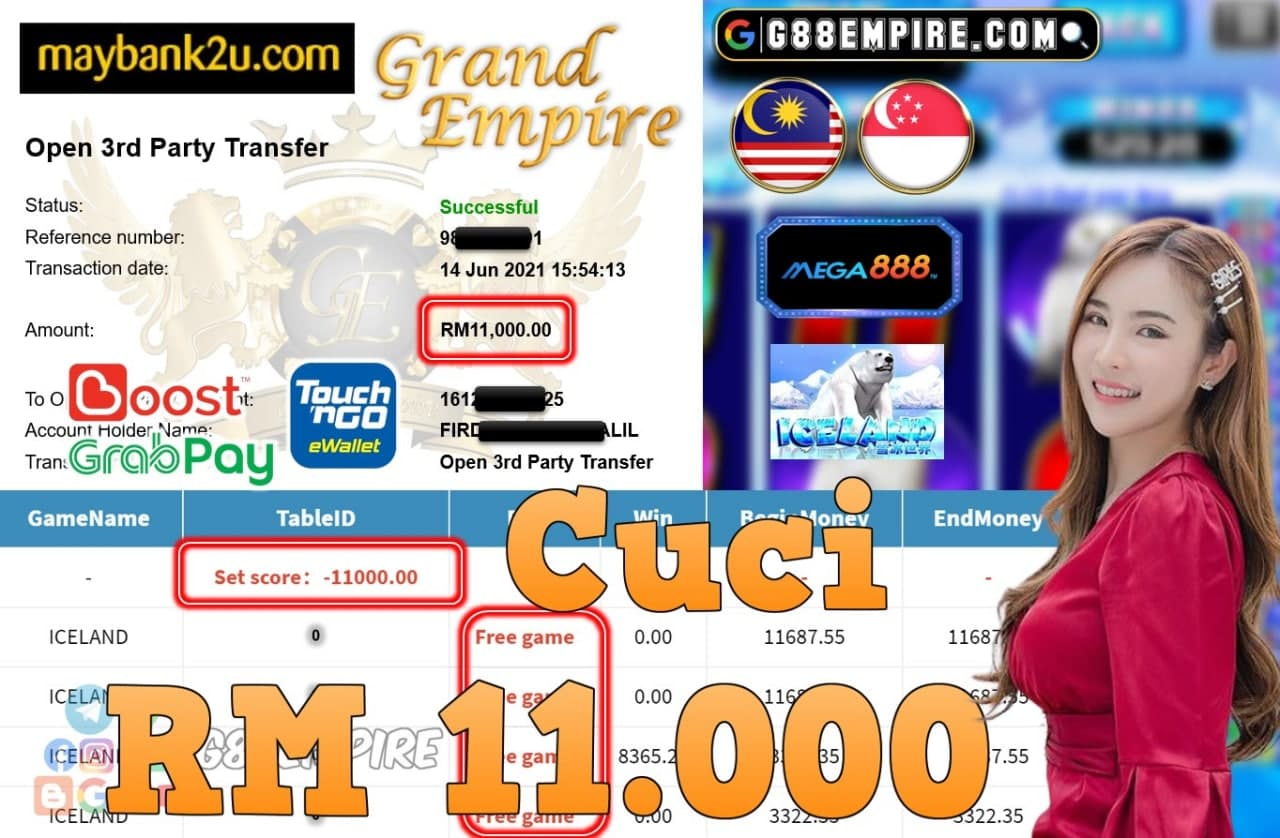 MEGA888 - ICELAND CUCI RM11,000!!!