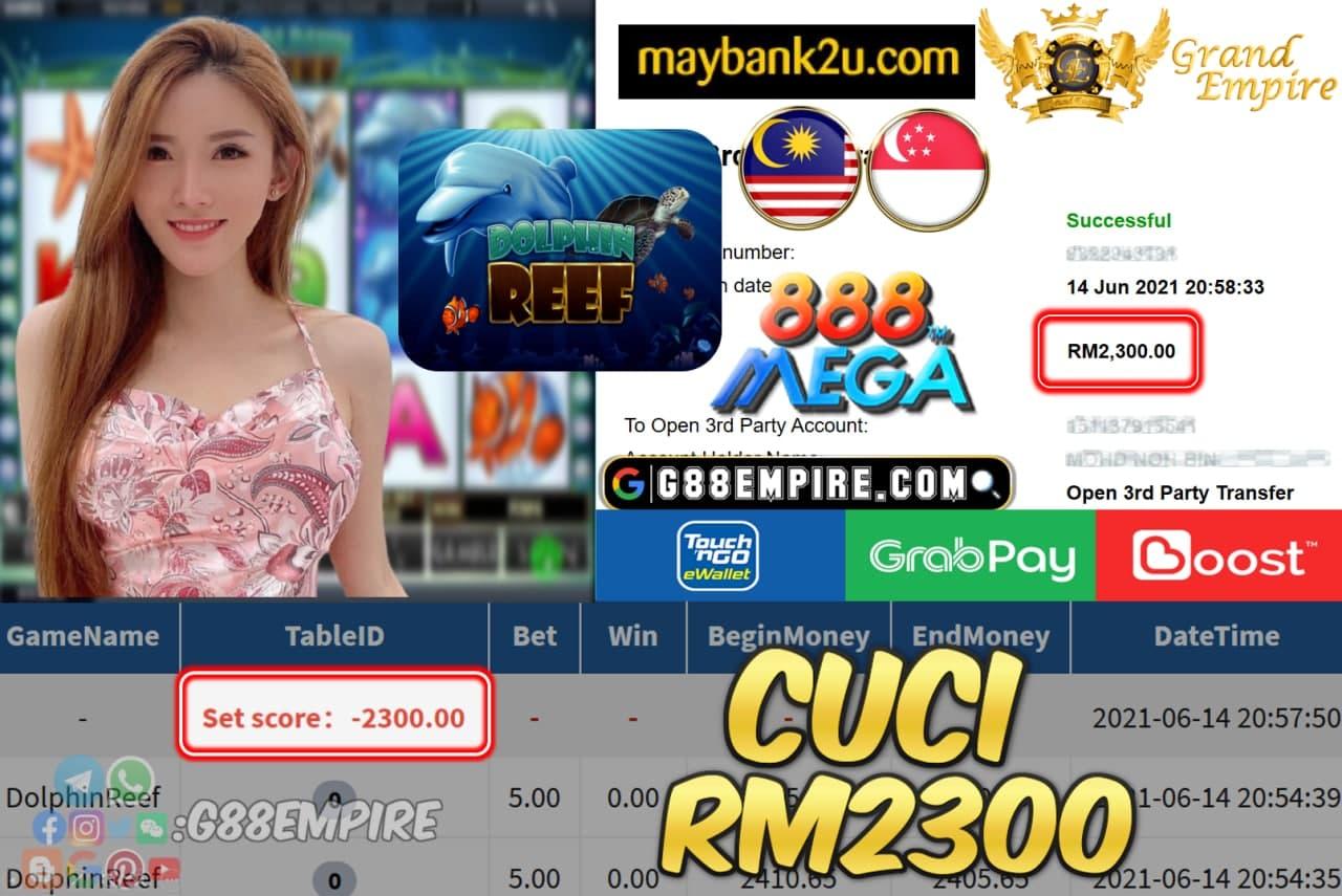 MEGA888 - DOLPHINREEF CUCI RM2300 !!!