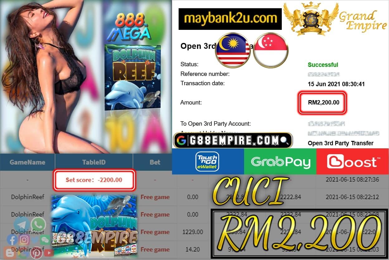 MEGA888 - DOLPHINREEF CUCI RM2200 !!!
