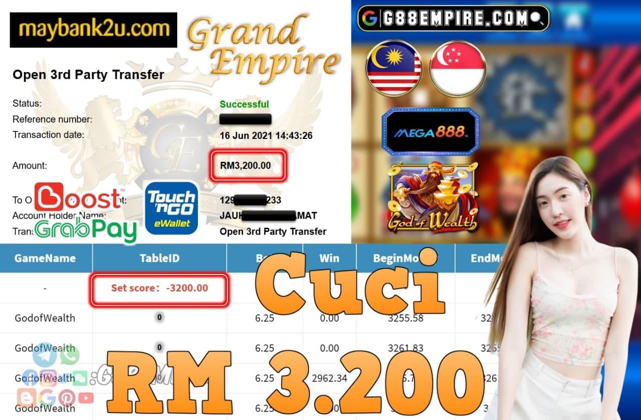 MEGA888 - GODOFWEALTH CUCI RM3,200!!!