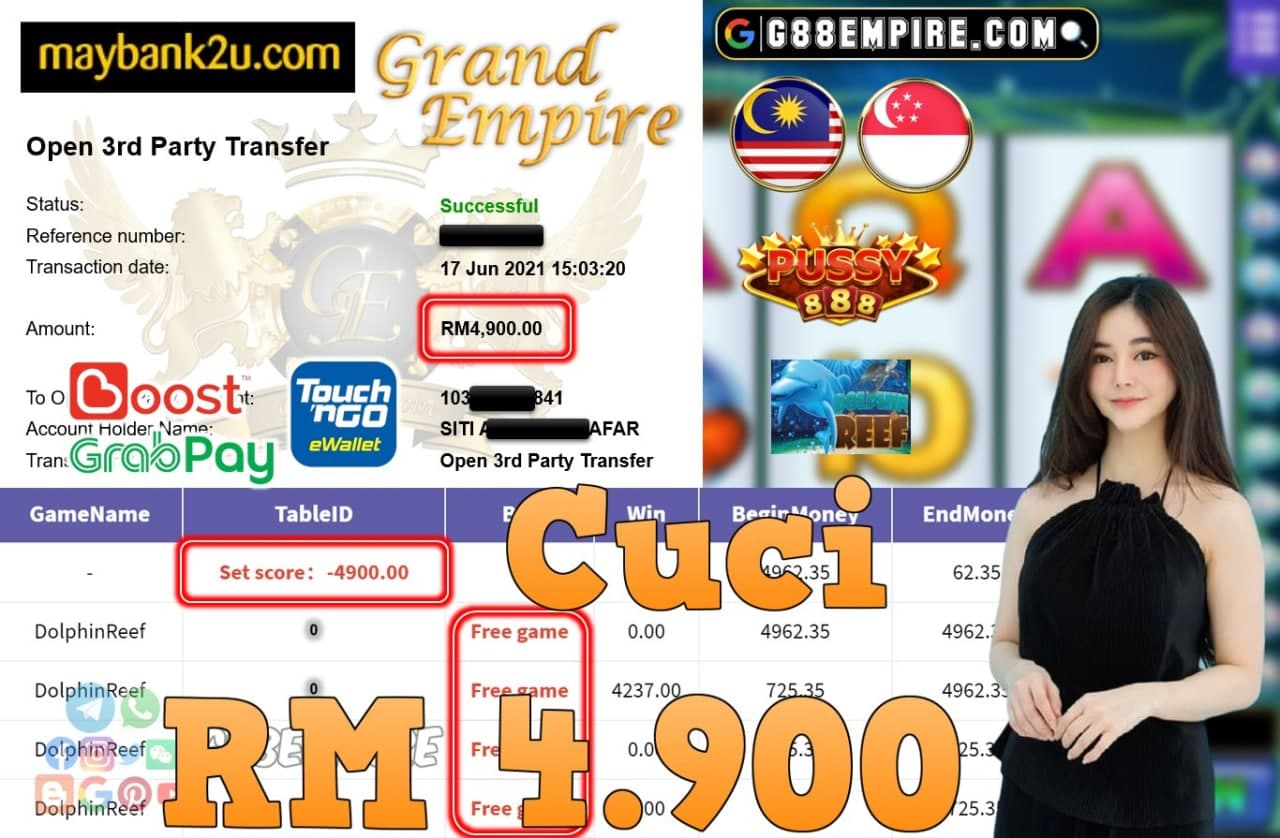 PUSSY888 - DOLPHINREEF CUCI RM4,900!!!