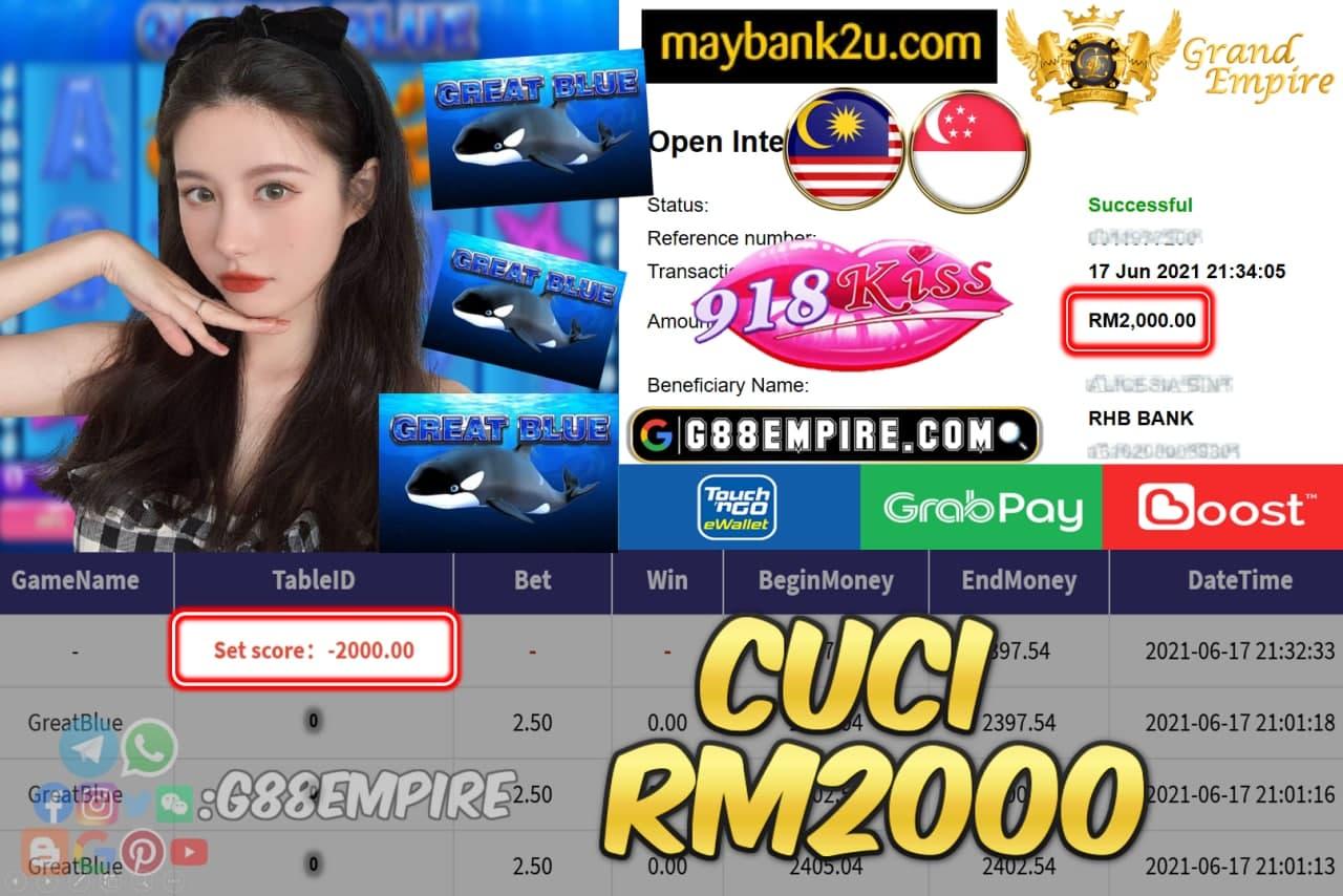 918KISS - GRATBLUE CUCI RM2000 !!!