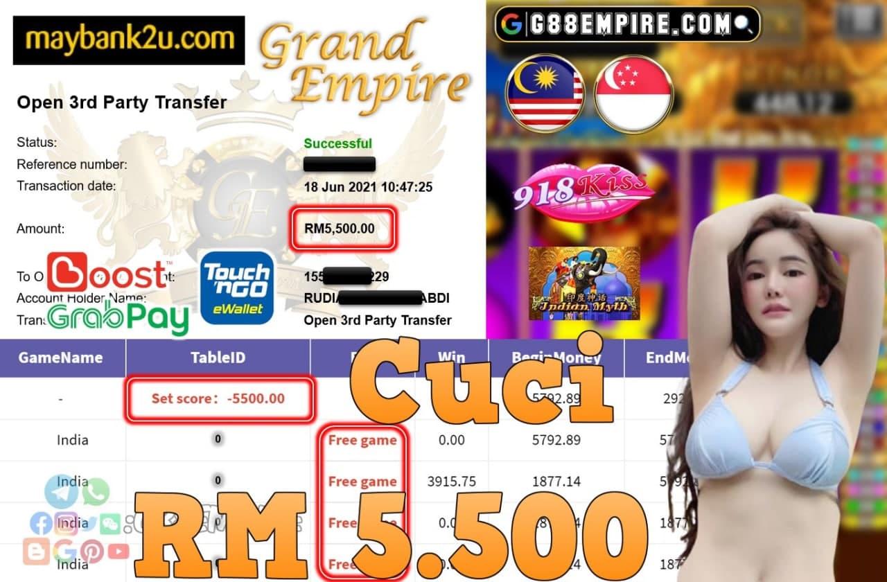 918KISS ORI - INDIA CUCI RM5,500!!!