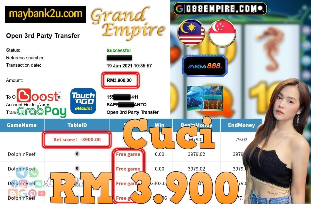MEGA888 - DOLPHINREEF CUCI RM3,900!!!