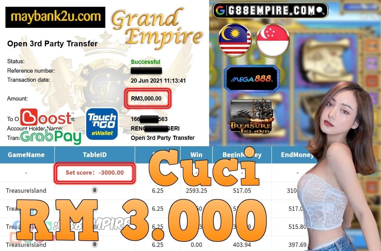 MEGA888 - TREASUREISLAND CUCI RM3,000!!!
