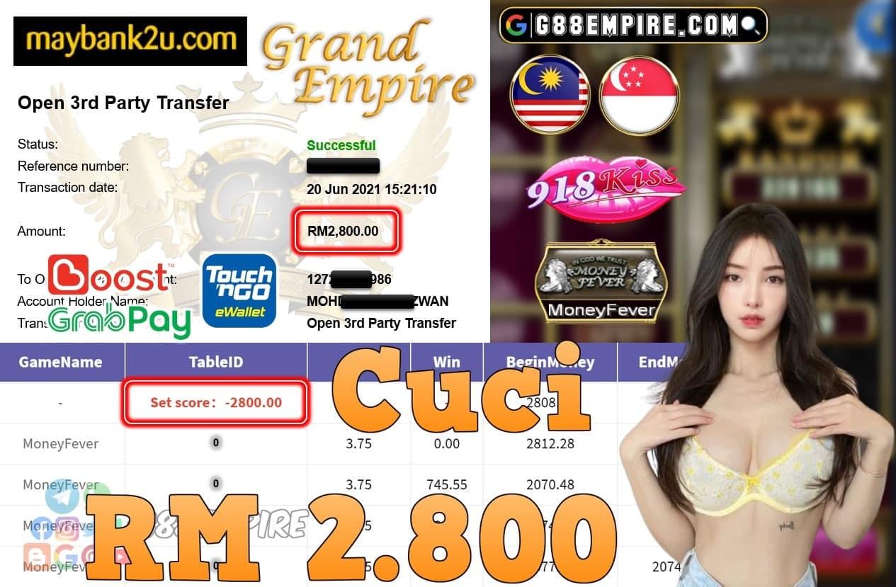 918KISS ORI - MONEY FEVER CUCI RM2,800!!!
