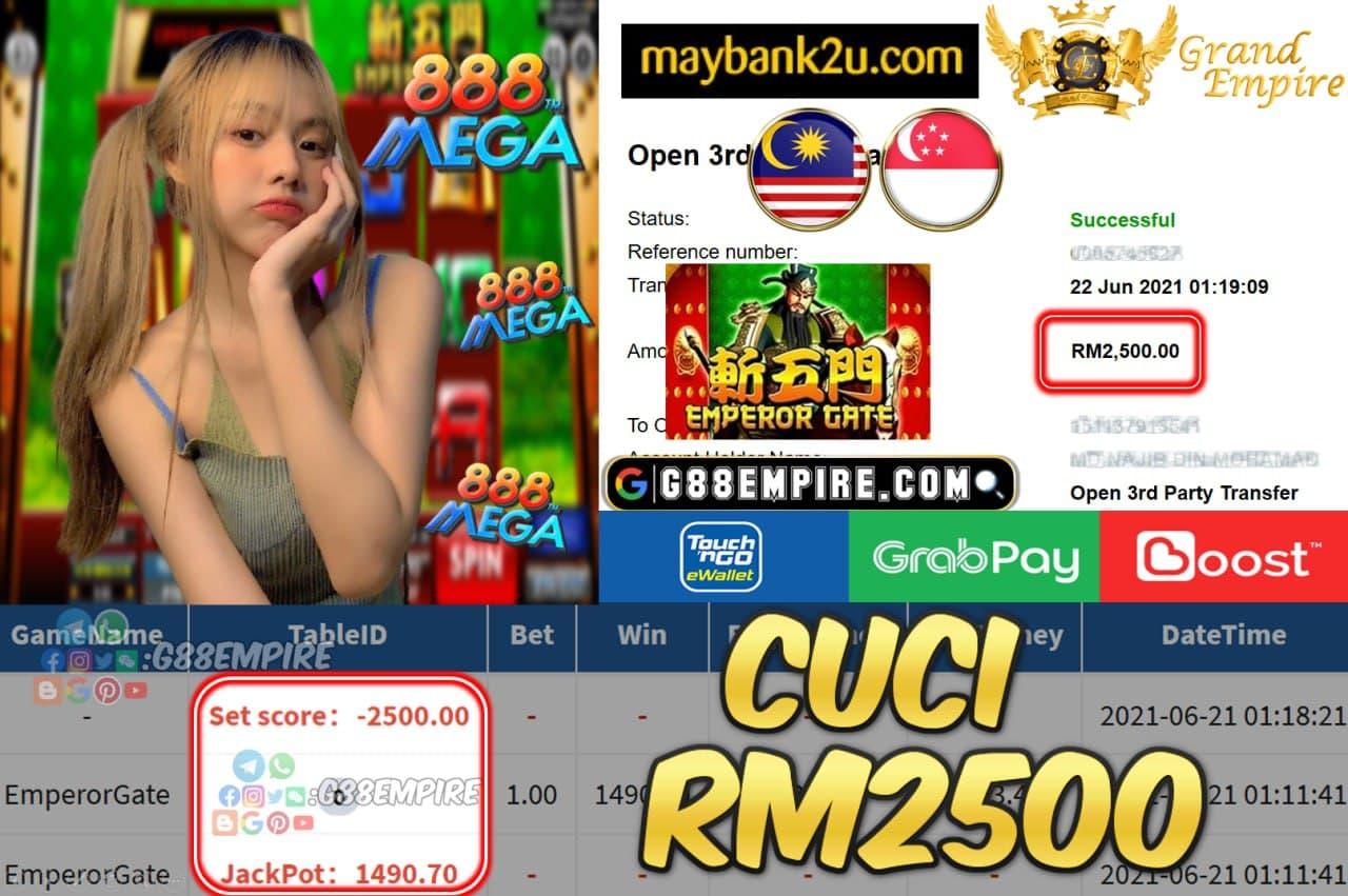 MEGA888 - EMPERORGATE CUCI RM2500 !!!