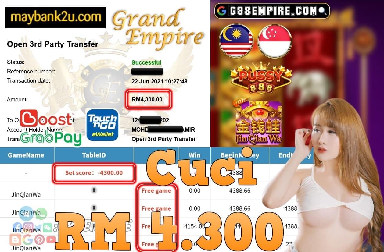 PUSSY888 - JINQIANWA CUCI RM4,300!!!